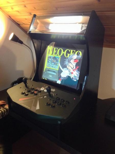 Custom 2 Player Street Fighter Ii Bartop Cabinet Build