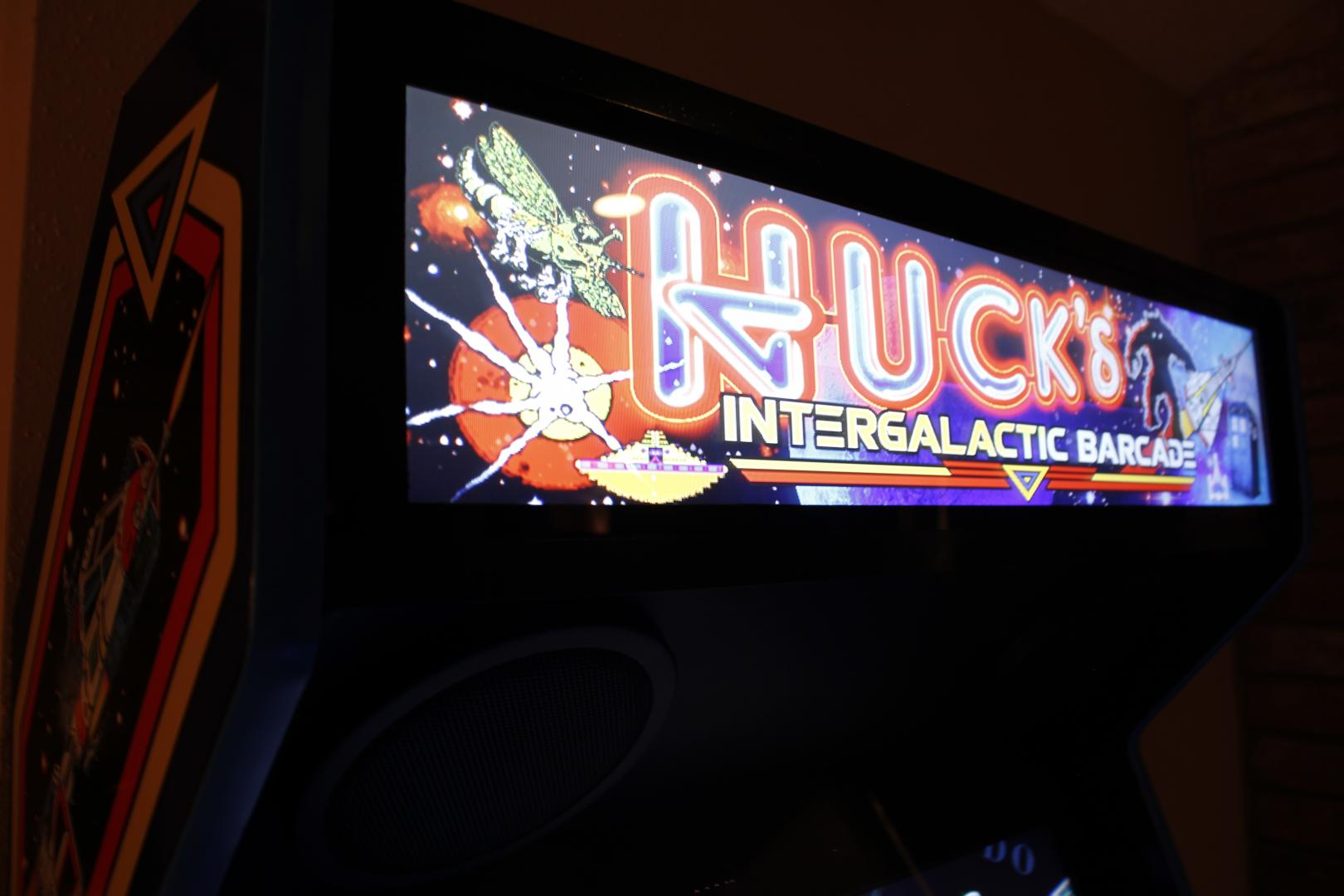 post-20830-0-88564300-1461787537_thumb.jpg & Recently finished 80u0027s space-themed arcade with LCD marquee ...