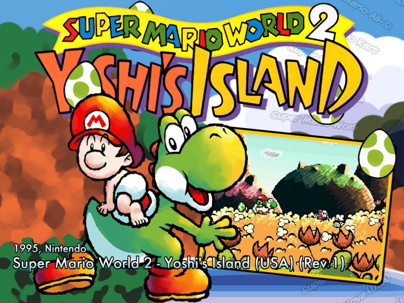 Super Mario World 2 - Yoshi's Island (USA) (Rev 1) (SNES) - Game
