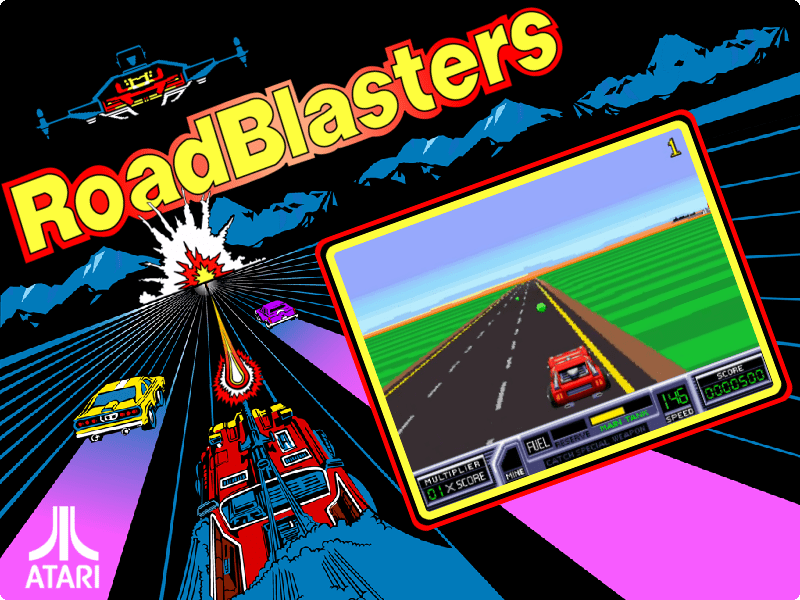 Road Blasters (upright, rev 4) - roadblst (MAME) - Game Themes (4:3