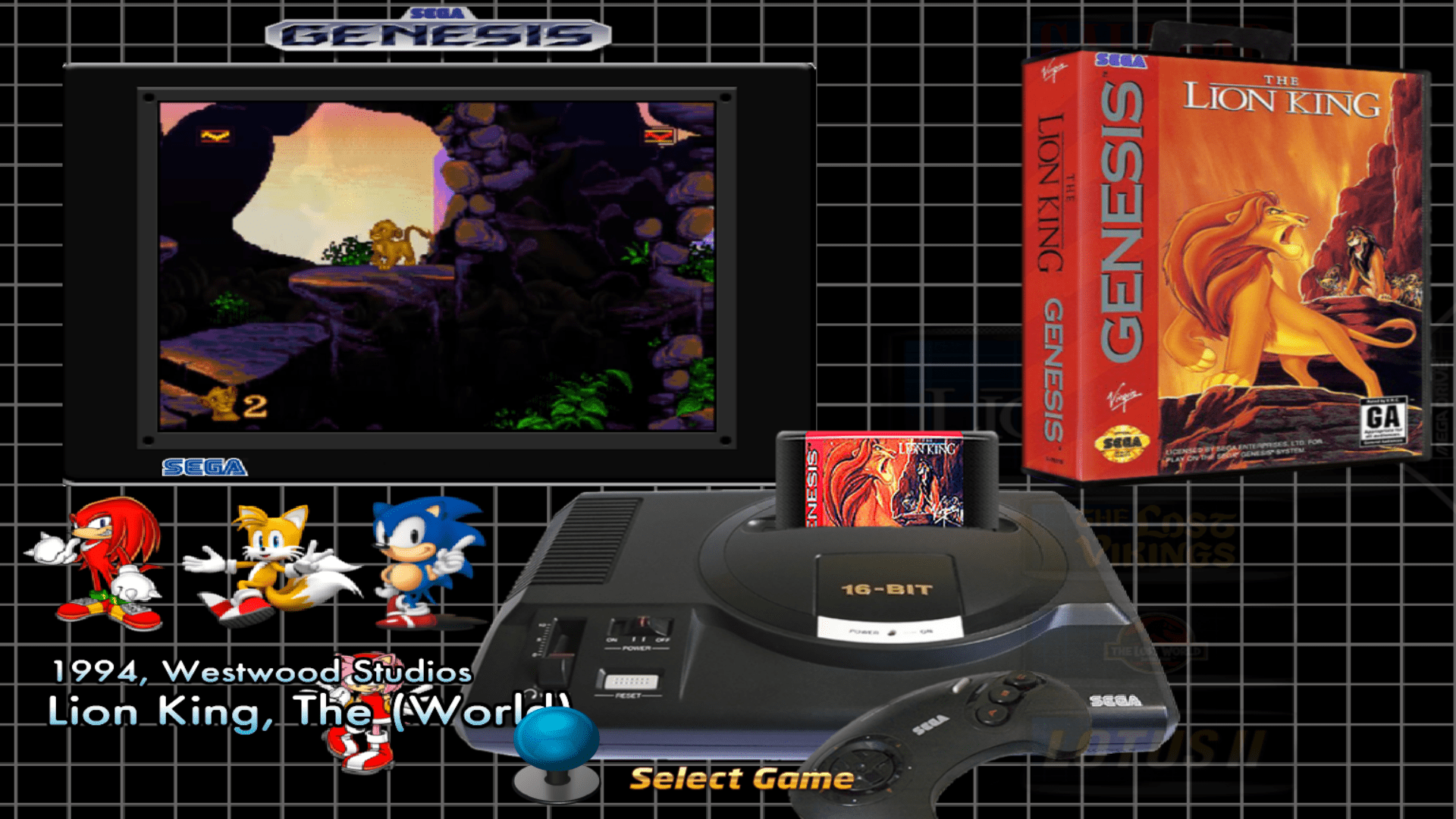 Sega Genesis Default Theme with ALL artwork included