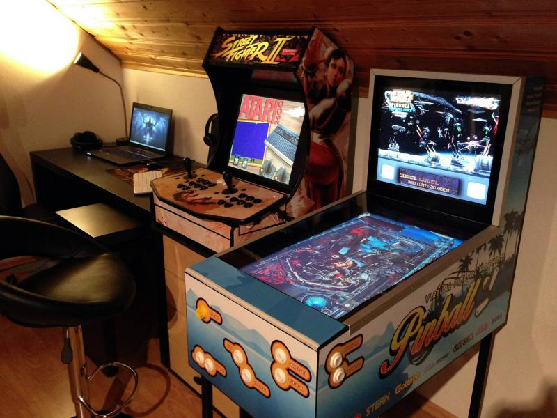 Budget Pinball Cab with 26'' playfield, custom build from spare