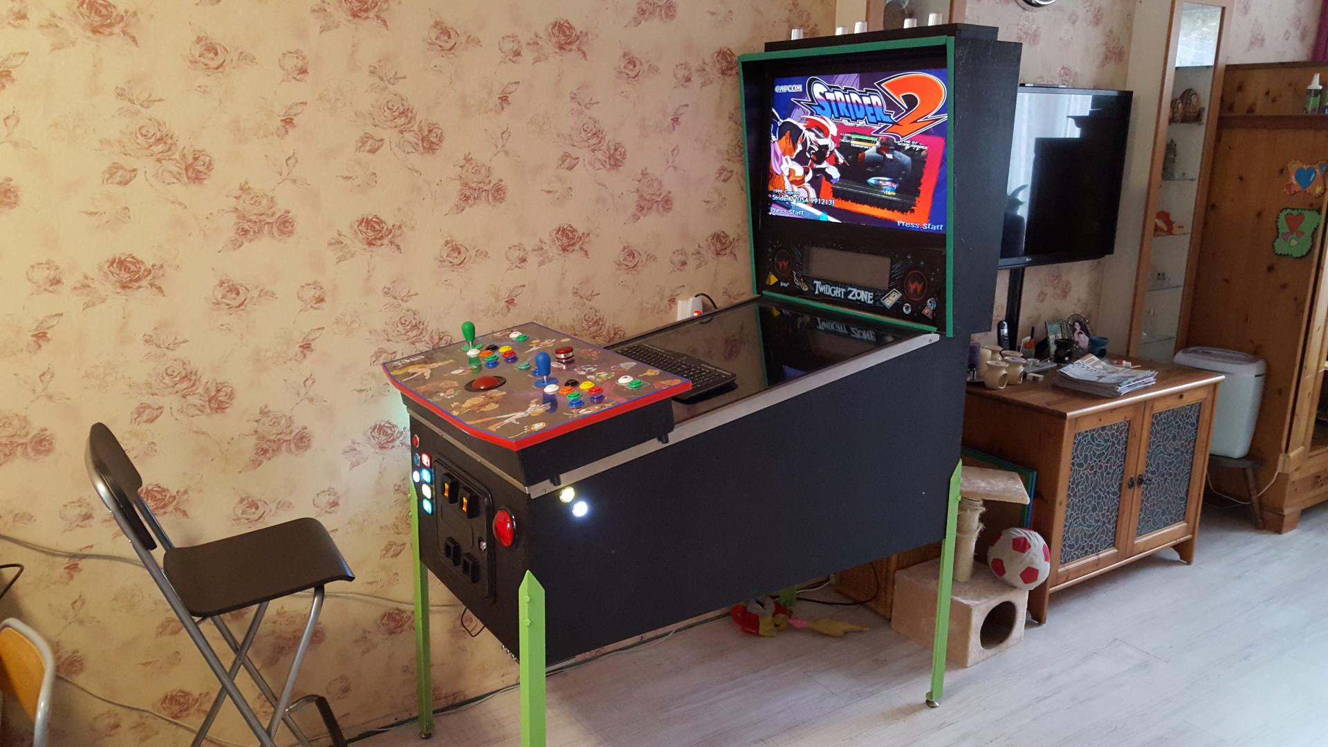 My Pinball with Arcade Controller For 2 Players - HyperPin Cabinet