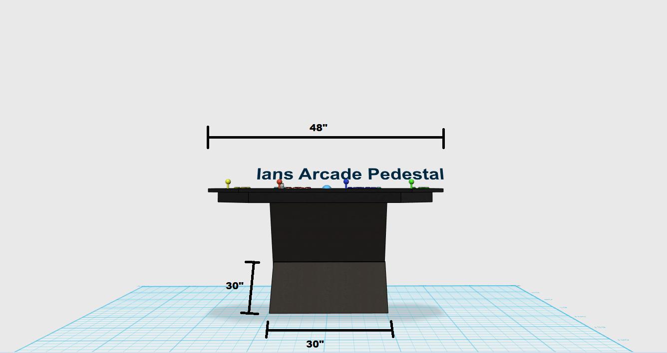 Pedestal Super Arcade 100 Screen Led Buttons Cabinets